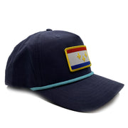 NOLA Flag Patch Rope Hat - NOLA REPUBLIC T-SHIRT CO.