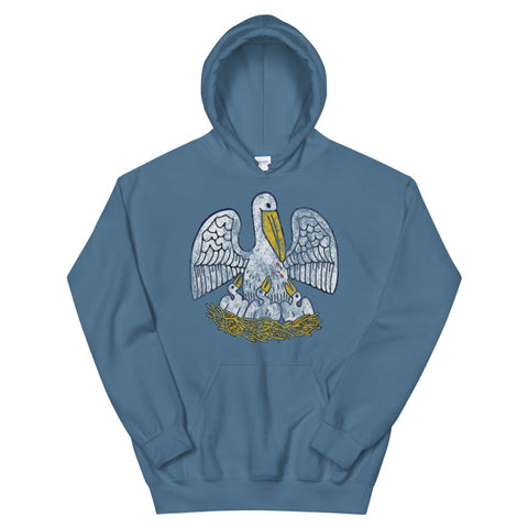 Louisiana State Pelican Unisex Hoodie - NOLA T-shirt, New Orleans T-shirt