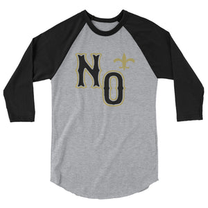 New Orleans Football 3/4 Sleeve T-Shirt | NOLA REPUBLIC T-SHIRT CO. New Orleans Saints T-shirts
