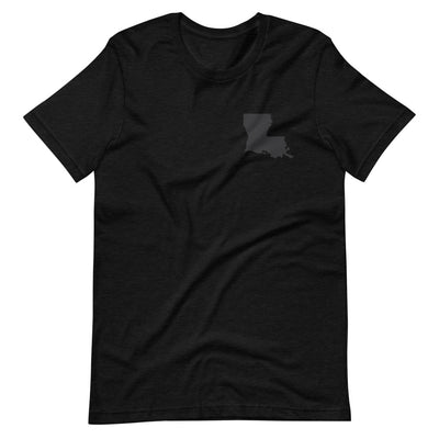 LOUISIANA Matte Black Unisex T-Shirt - NOLA T-shirt, New Orleans T-shirt