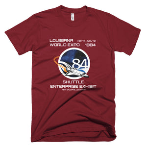 1984 World's Fair Shuttle Enterprise Unisex T-Shirt - NOLA T-shirt, New Orleans T-shirt