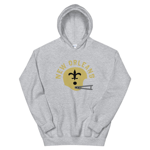 Vintage Football Unisex Hooded Sweatshirt - NOLA T-shirt, New Orleans T-shirt