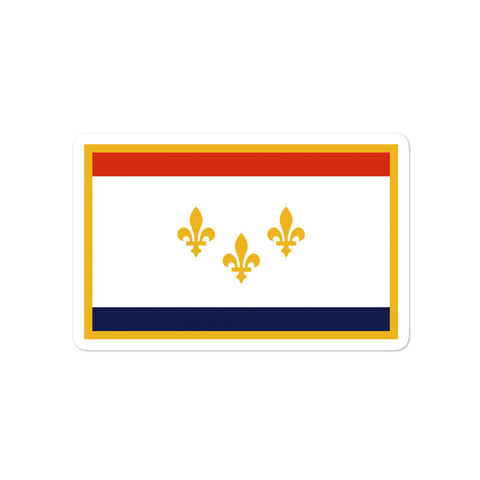 New Orleans Flag Sticker - NOLA T-shirt, New Orleans T-shirt