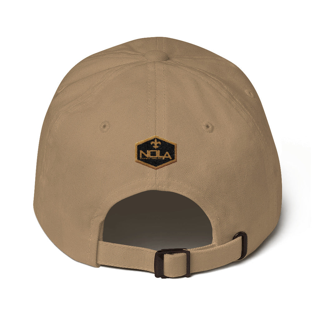 NOLA Black & Gold Chino Hat | NOLA REPUBLIC T-SHIRT CO.  New Orleans Saints Trucker Hat