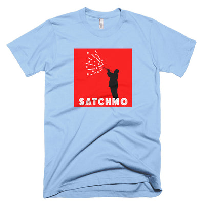"Louis ""SATCHMO"" Armstrong Unisex T-Shirt - NOLA REPUBLIC T-SHIRT CO."