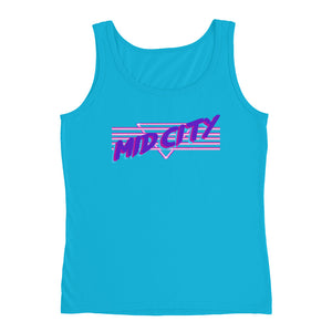90's MID CITY New Orleans Women's Tank Top - NOLA T-shirt, New Orleans T-shirt
