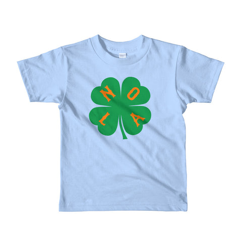 NOLA Shamrock Short Sleeve Kids T-shirt - NOLA T-shirt, New Orleans T-shirt