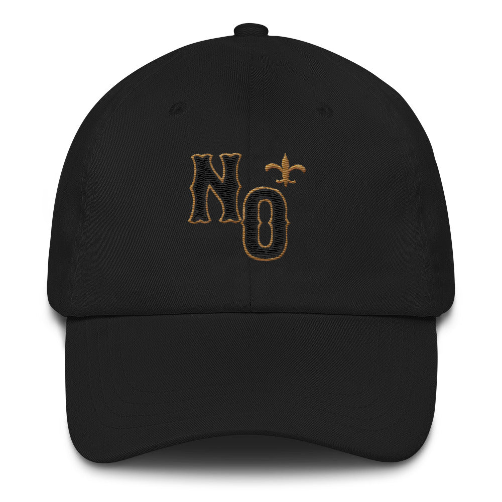 N.O. New Orleans Black & Gold Chino Hat | NOLA REPUBLIC T-SHIRT CO. New Orleans Saints Hat