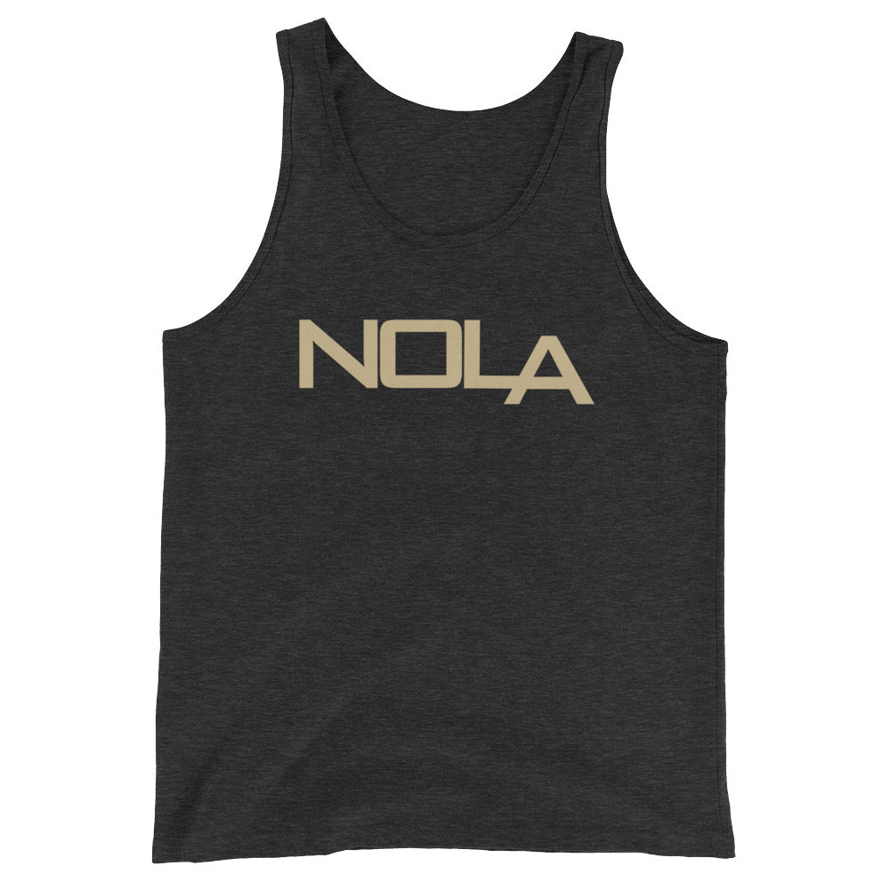 NOLA LA Black& Gold Unisex  Tank Top - NOLA T-shirt, New Orleans T-shirt