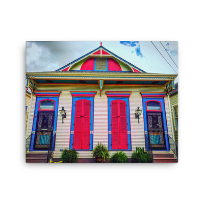 Bywater Pink Passion Four Bay Canvas - NOLA T-shirt, New Orleans T-shirt