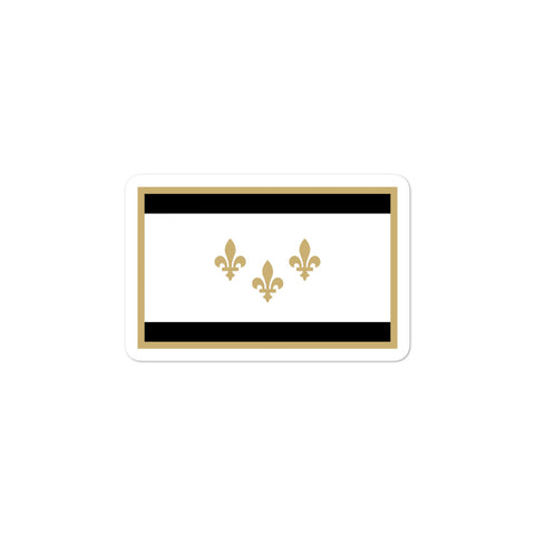 New Orleans Black & Gold Flag Sticker - NOLA T-shirt, New Orleans T-shirt