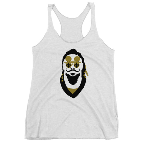 """The Stache"" Women's Racerback Tank Top - NOLA T-shirt, New Orleans T-shirt"