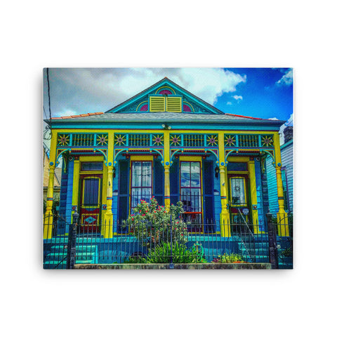 Marigny New Orleans Shotgun Double Canvas - NOLA T-shirt, New Orleans T-shirt