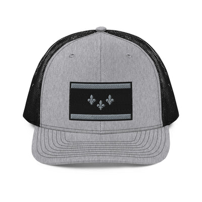 NOLA Flag Wolf Grey Trucker Hat - NOLA T-shirt, New Orleans T-shirt