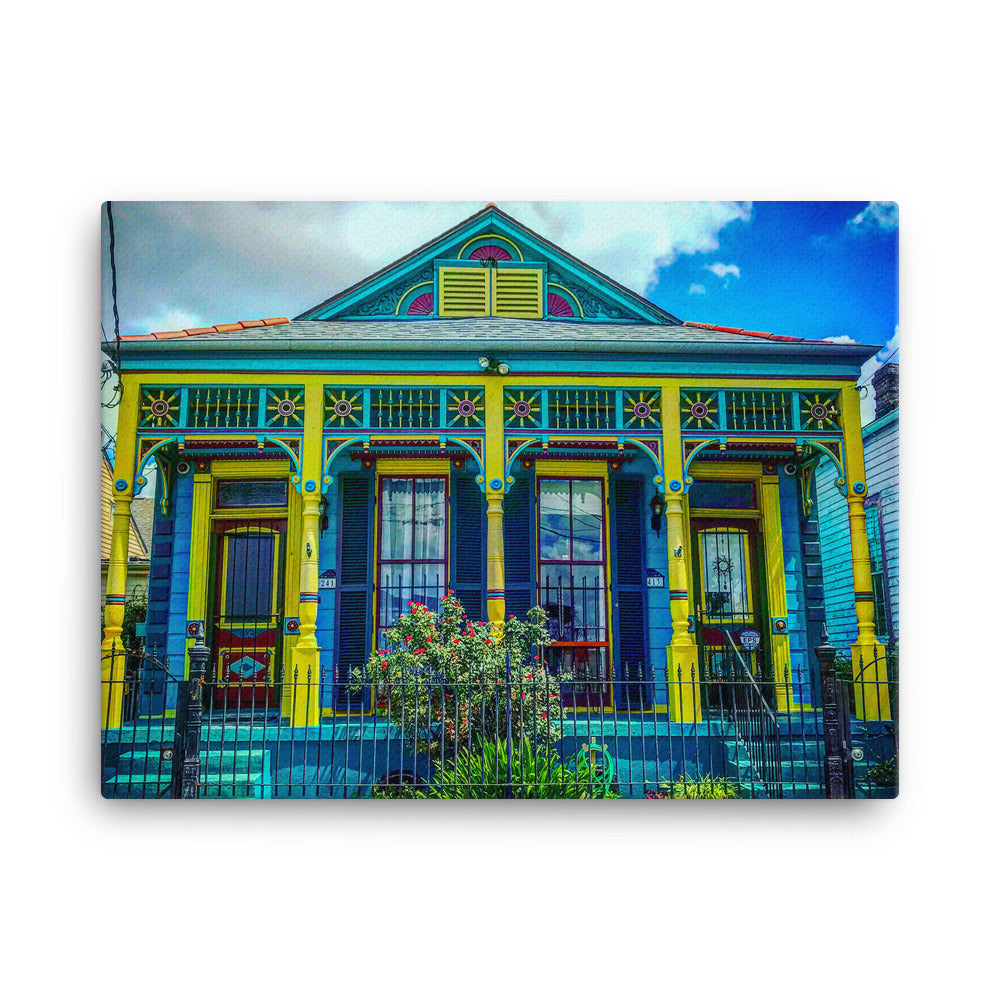 Marigny New Orleans Shotgun Double Canvas