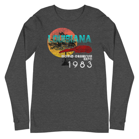 Louisiana World Crawfish Expo 1983 Unisex Long Sleeve - NOLA REPUBLIC T-SHIRT CO.