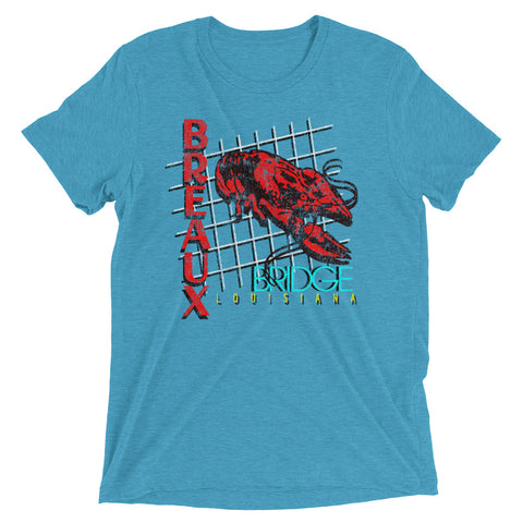 Retro Breaux Bridge Crawfish Capital Unisex Tri-blend T-Shirt - NOLA REPUBLIC T-SHIRT CO.