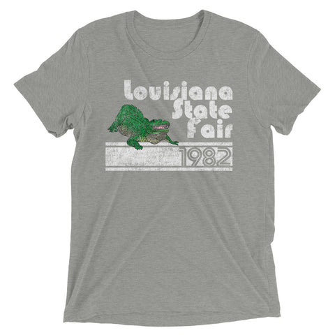 Retro Louisiana State Fair 1982 Unisex Tri-blend T-Shirt