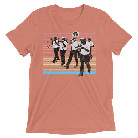 SECOND LINE Season New Orleans Vintage Pop Unisex Tri-blend T-shirt - NOLA REPUBLIC T-SHIRT CO.