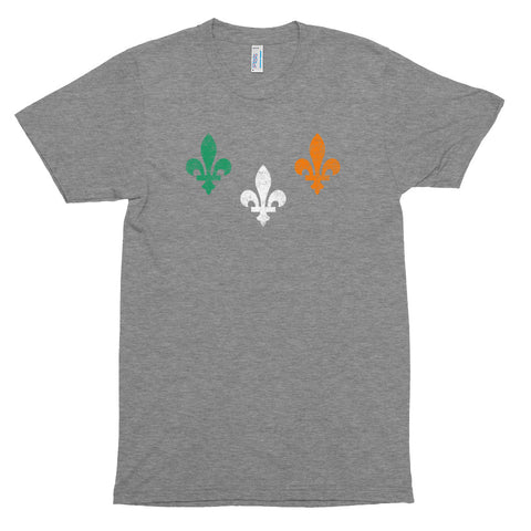 St. Patrick's New Orleans Flag Unisex Tri-Blend T-Shirt - NOLA REPUBLIC T-SHIRT CO.