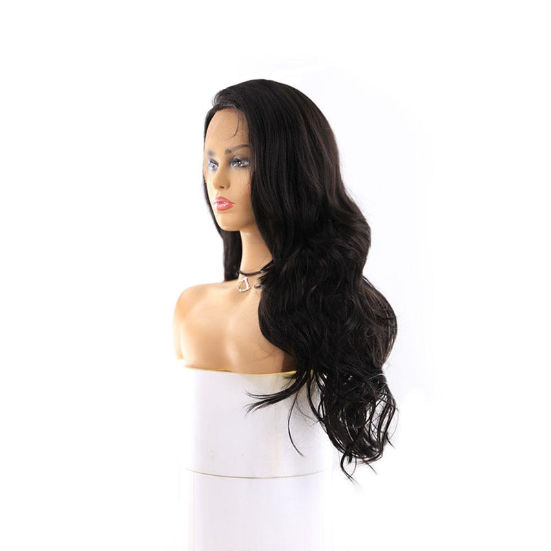 "HTF 4""x13""lace front 1# body wave wig 23""-25"""