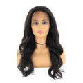 "HTF 4""x13""lace front 1B body wave wig 20""-23"""