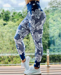 High Waist Push Up Flowers Printed Leggings