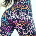 High Waist Push Up Leopard Printed Leggings