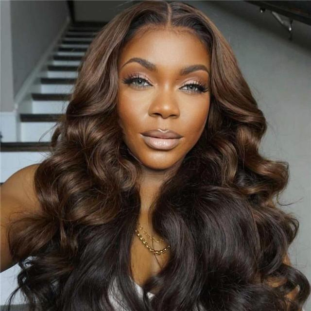 Brown Wave Prepluck Glueless Fashion Wigs-15