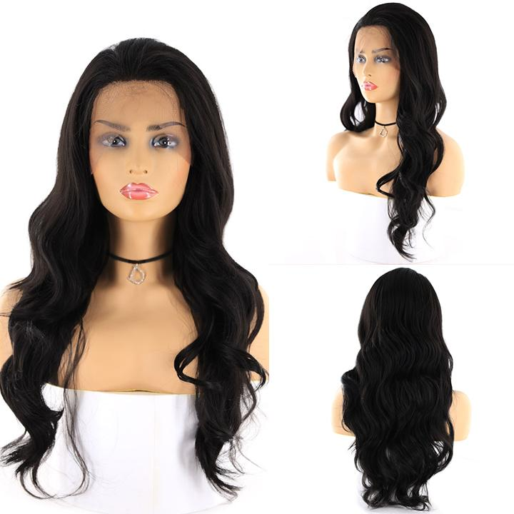 "HTF 4""x13""lace front 1# body wave wig 24"""
