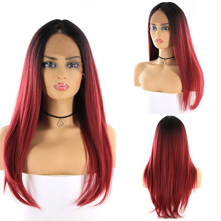 HTF cross lace(wide1.1cm+lace front1.5cm) GT1B/BG straight wig 18""