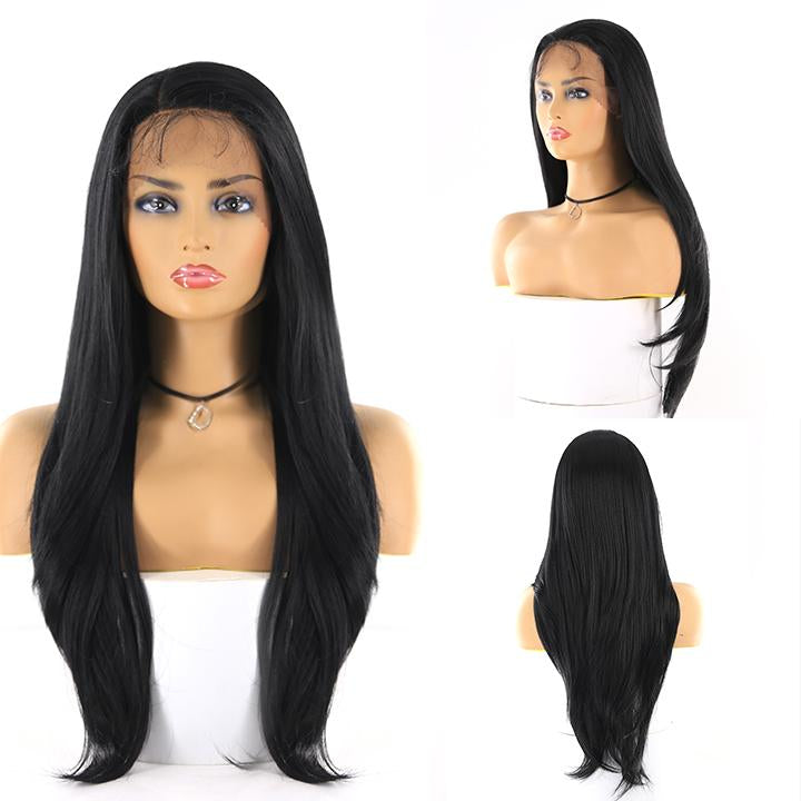 "HTF 4""x13""lace front 1# straight wig 26""-27"""