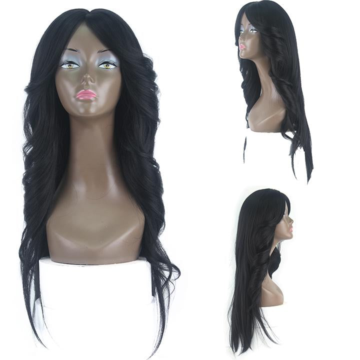 HTF invisible skin+Lace 1B body wave wig 26〃