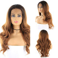 "HTF 4""x13""lace front RT30M body wave wig 24"""