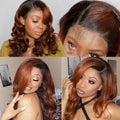 New Shade Of Ginger Fall Color Wig Frontal Lace Wig