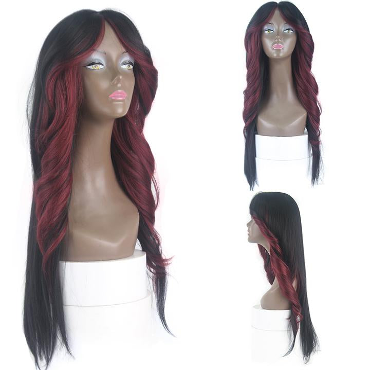 HTF invisible skin+Lace HL530 body wave wig 26〃