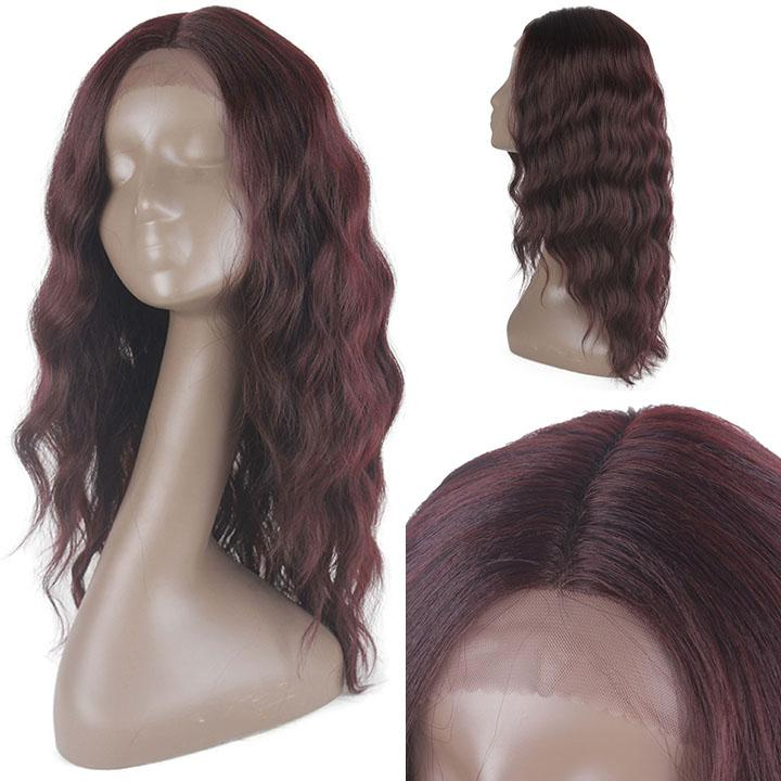 HTF Lpart+lace front 99J water wave wig 20〃