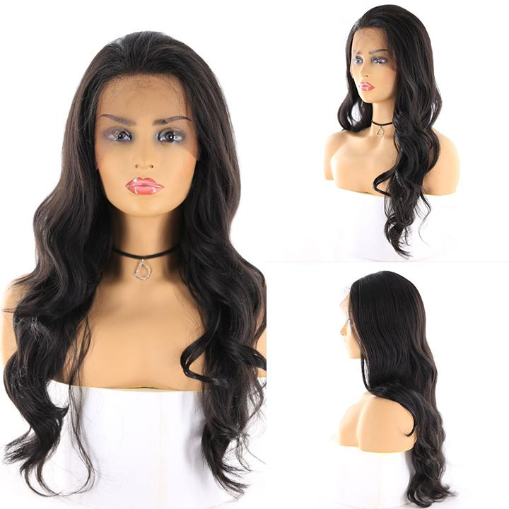 "HTF 4""x13""lace front 1B body wave wig 24"""
