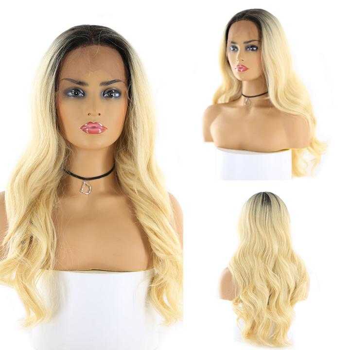 "HTF 4""x13""lace front DR613 body wave wig 24"""