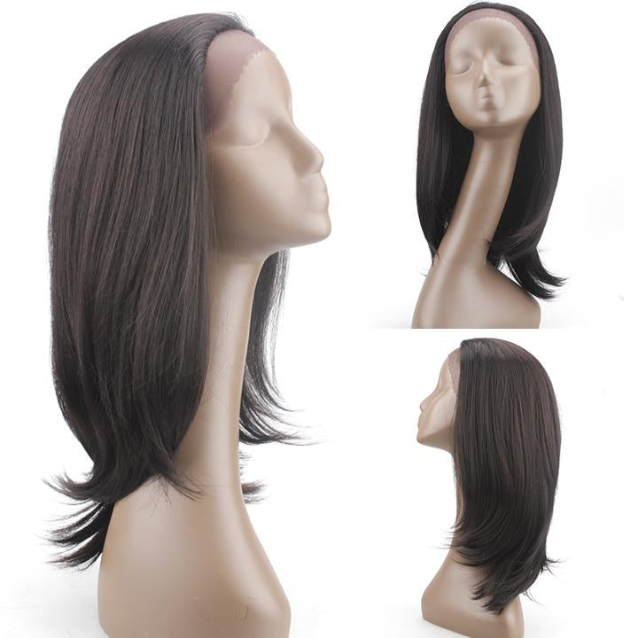 HTF 1.5*13.5 Lace front 2# straight wig 18〃