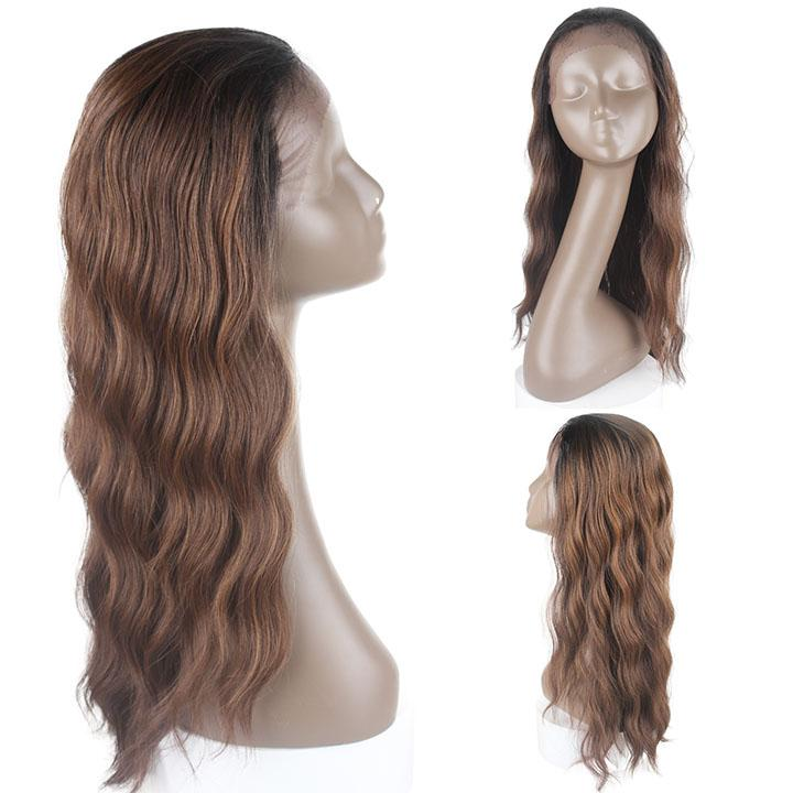 HTF 1.5*13.5 Lace front OP430 body wave wig 22〃