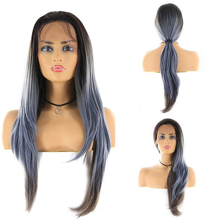 "HTF 4""x13""lace front R3454 straight wig 26""-27"""