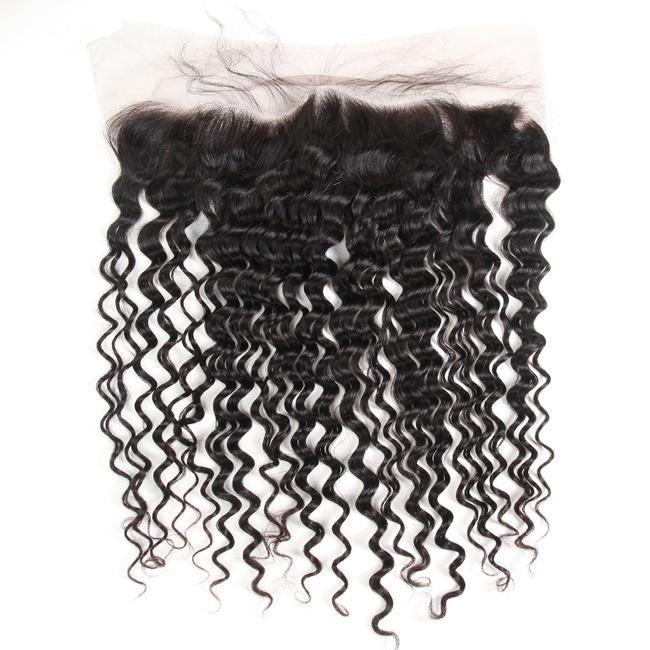 1Pc Deep Wave Pre Plucked Lace Frontal