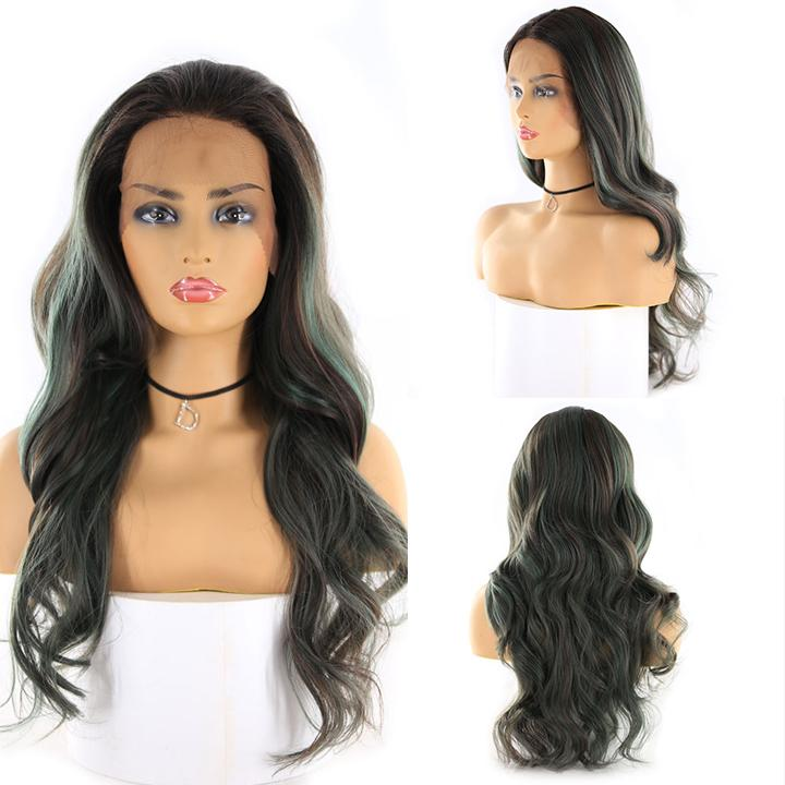 "HTF 4""x13""lace front R3438 body wave wig 24"""