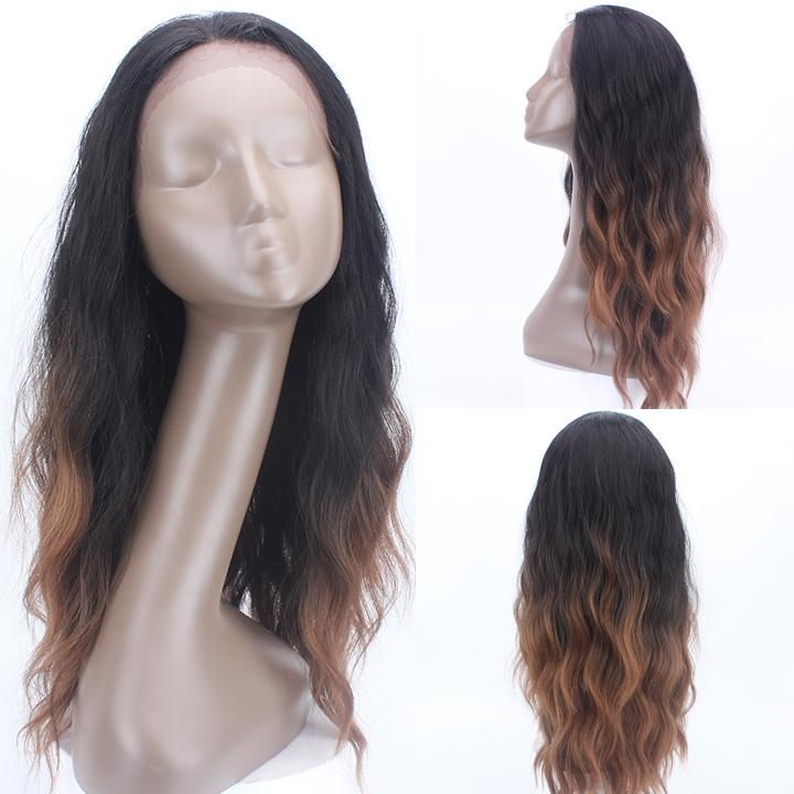 HTF 1.5*13.5 Lace front TT2/30 body wave wig 22〃