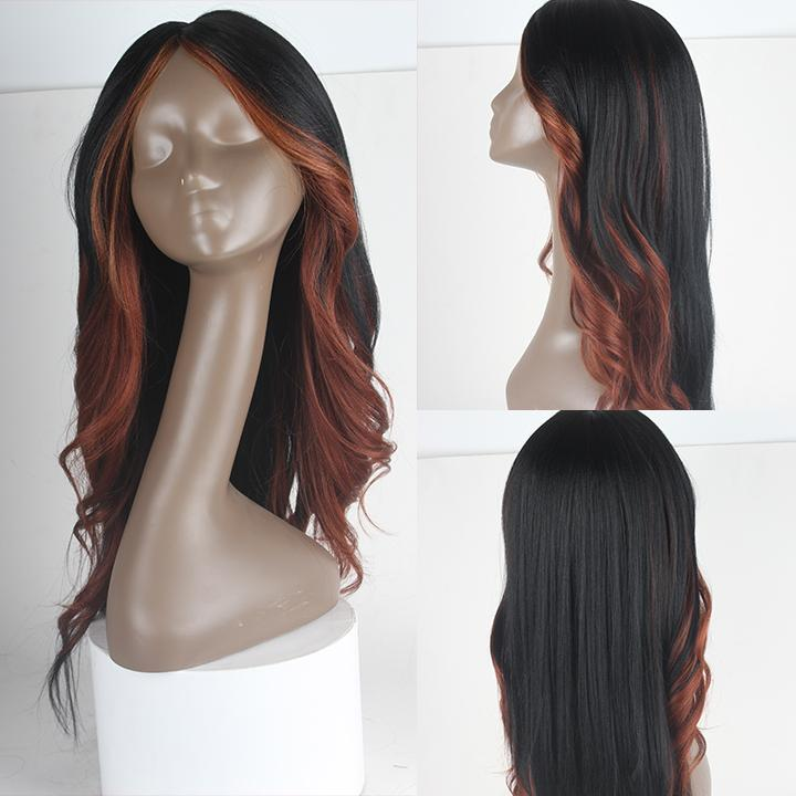 HTF invisible skin+Lace HL350 body wave wig 26〃