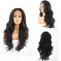 "HTF 4""x13""lace front 1B body wave wig 23""-25"""