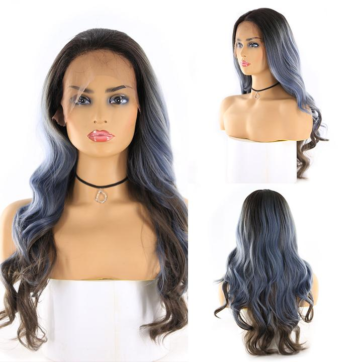"HTF 4""x13""lace front R3454 body wave wig 24"""
