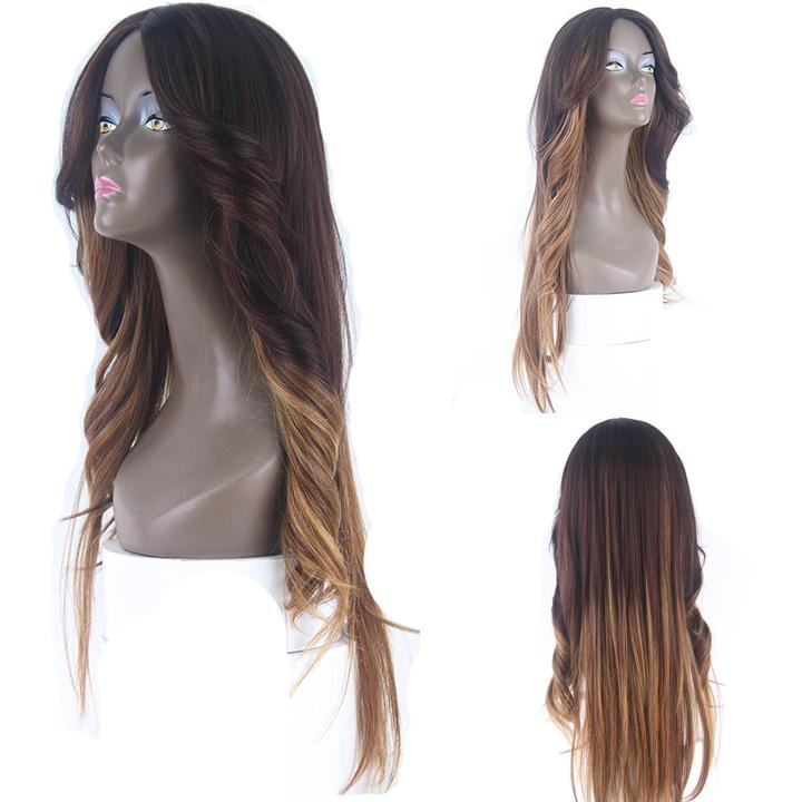 HTF invisible skin+Lace DXR1233 body wave wig 26〃