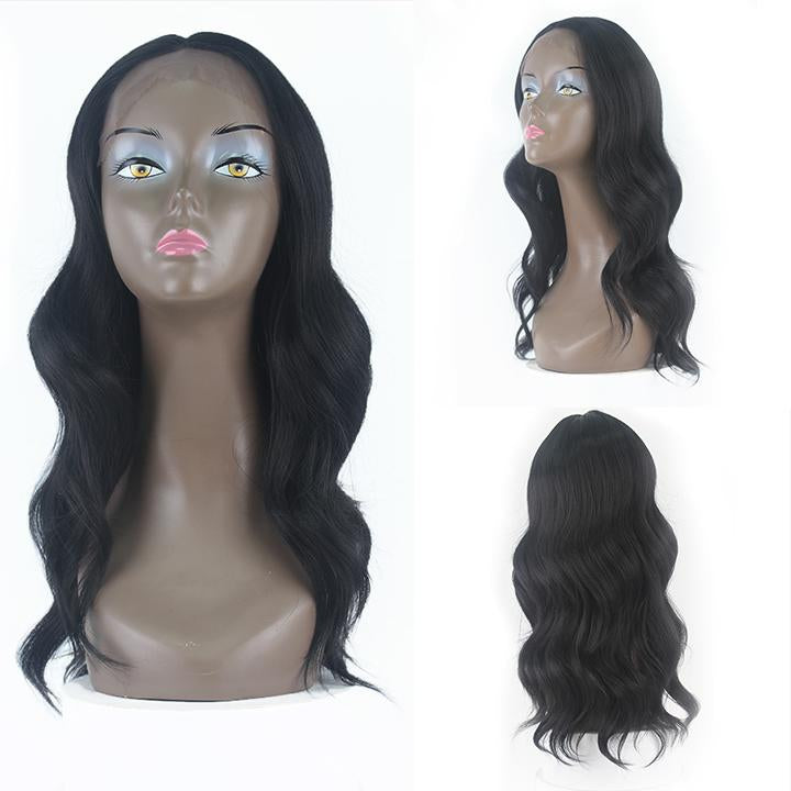 HTF Skin Lpart+Lace front 1B body wave wig 20〃